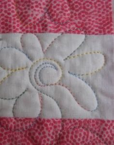 Love the variegated thread for the quilting- All Things Quilty: Heart Quilt...