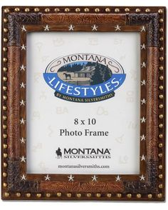 Montana Silversmiths Leather and Silver Star Photo Frame