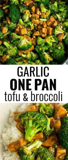 tofu broccoli skillet recipe made in just one pan. A healthy alternative Garlic tofu broccoli skillet recipe made in just one pan. A healthy alternative . -Garlic tofu broccoli skillet recipe made in just one pan. A healthy alternative . Broccoli Tofu, Fresh Broccoli, Garlic Broccoli, Broccoli And Tofu Recipe, Broccoli Florets, Vegan Foods, Vegan Dishes, Cooking Recipes, Healthy Vegetarian Recipes