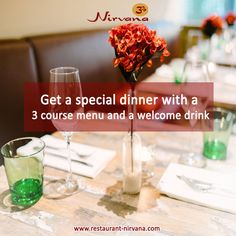 #‎Restaurant‬ ‪#‎Nirvana‬, offers you to a special ‪#‎dinner‬ with a 3 course ‪#‎menu‬ and a welcome ‪#‎drink‬. Get in touch with us @ http://restaurant-nirvana.com/candle_light_dinner.html