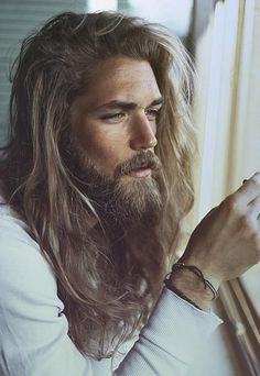 Best Looking Man In The World Sad Face - Swedish Model Ben Dahlhaus - Brathwait Watches - Ben manages to make scraggly beards and long hair look good