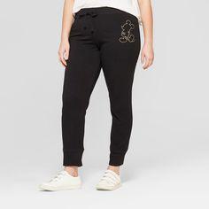 7f922f09415a7 Women s Disney Plus Size Mickey Mouse Jogger Pants (Juniors ) Black 3X