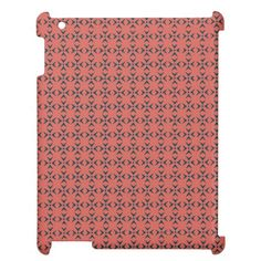 Crosses and dots red coral/blue pattern case for the iPad  Simple, stylish, trendy. The perfect choice for your precious device. You can have this pattern in different colors, developed for her and him. Just have a look at my store. .Have a glamorous case nobody can't notice. Stay cool!