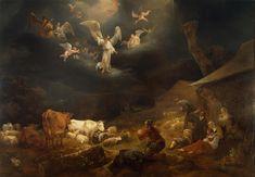 22  Nicolaes Berchem, Annunciation to Shepherds,1649 hermitage