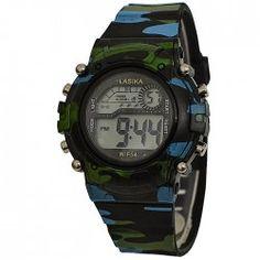 Dětské hodinky LASIKA ve vojenském stylu