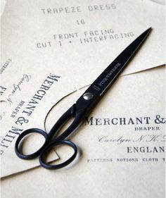 Papierschaar zwart teflon 22 cm | Merchant & Mills bij Aster & Emma