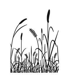 "Embossing Folder 4.25""X5.75""-Grass Silhouette"