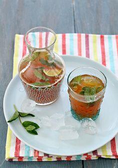 Moroccan mint tea mojito