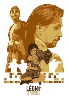 Leon The Professional - Poster art by Stephen Sampson. If ever a sequel was needed, this would be it! The Professional Movie, Professional Poster, Cinema Posters, Film Posters, Love Movie, I Movie, Norman Rockwell, Laurent Durieux, Mathilda Lando