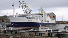The RMS St Helena. Built in 1989 by Hall, Russell & Co in Aberdeen and entered service as a Royal Mail Ship in 1990. This was the last boat build in Aberdeen and by Hall and Russell Shipbuilders who closed in 1992. An airport was built on the island of St Helena which led to the decommissioning of the ship in 2016.