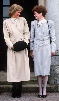 Princess Diana With Her Older Sister Lady Sarah Mccorquodale On A Visit To Their Old School, West Heath, In Kent | Getty Images #sisters