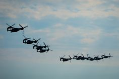 CV-22 Osprey assigned to the 8th Special Operations Squadron at Hurlburt Field, Fla., and the 20th SOS at Cannon Air Force Base, N.M., fly in formation over Hurlburt Field Feb. 3, 2017. This training...