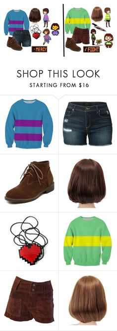 """""""Undertale -- Frisk & Chara"""" by somenormalpanda ❤ liked on Polyvore featuring LE3NO"""