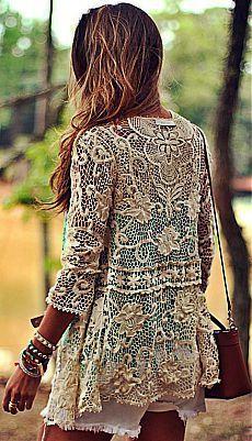 hippie style 37788084348351121 - Moikana Cream Lace Jacket by Decor e Salto Alto Source by Hippie Style, Mode Hippie, Mode Boho, Gypsy Style, Hippie Boho, Bohemian Style, Bohemian Summer, Vintage Hippie, Lace Cardigan