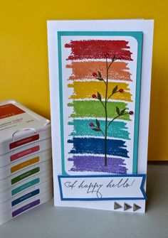 Scrap Stamp Share: A Happy Hello- CTMH February Stamp of the Month Australasian Blog Hop #C1608Brushstrokes