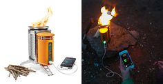 This is the first camping stove that can burn wood for cooking and recharge USB-enabled electronic devices... [read more]