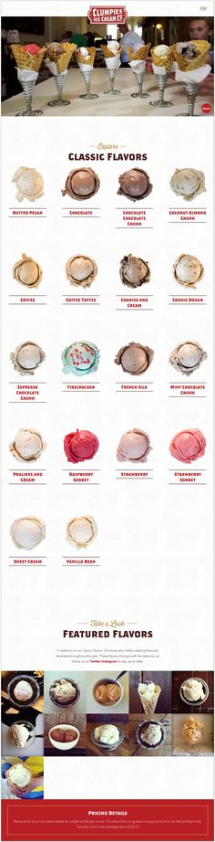 clumpies - food product ice-cream - #website