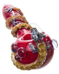 empire glassworks fire dragon spoon pipe