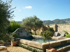 Piscine béton forme bassin provençal - Piscine béton Vaucluse - Inter-Piscine