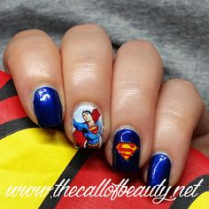 The Call of Beauty: Twinsie Tuesday: Superman Manicure - Someone Else Does Your Nails