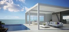 Patio covers, patio roof, aluminium pergola, terrace covers, outdoor living :: RENSON