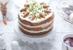 Ostervorbereitungen: Naked Cake ~ Rübli-Torte für Ostern, Kartottenkuchen
