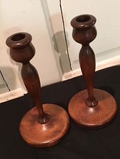A personal favorite from my Etsy shop https://www.etsy.com/listing/263206459/antique-wooden-candleholders-vintage