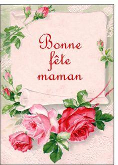 Carte Carte ancienne bonne f�te maman jolies roses pour envoyer par La Poste, sur Merci-Facteur !