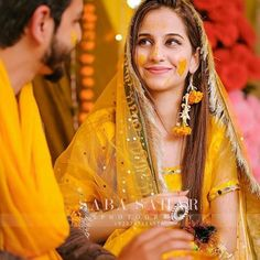 Mehndi Outfit, Pakistani Wedding Outfits, Couple Pictures, Bridal Collection, Cute Girls, Sari, Bride, Couples, Groom