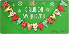 Craftoholic BLOG: Girlanda świąteczna w 3 prostych krokach! Advent Calendar, Christmas Ornaments, Holiday Decor, Blog, Diy, Home Decor, Decoration Home, Bricolage, Room Decor