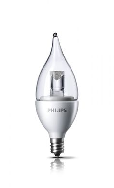 Philips DecoLED (TM) Dimmable 25W Replacement BA11 Candle with Bent Tip Clear LED Light Bulb with Medium Screw (E26) Base - Soft Warm White $17.95