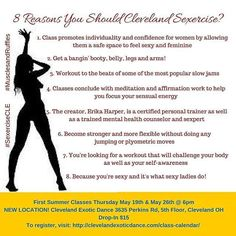 Miss Sexercise last night? We'll be offering it again next Thursday and most Thursday's thereafter at 6pm! #sexercise #sexerciseworkout #sexualwellness #workout #strength #cleveland #clevelandexoticdance #ced #fb