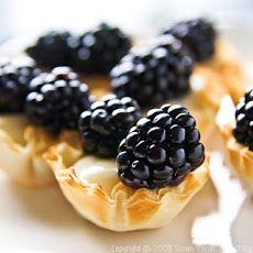 Blackberry-Lime Tartlets Recipe