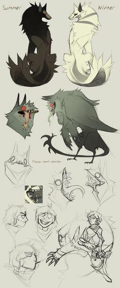 sketch dump no.4 by Dusty-Demon
