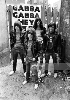The Ramones stand outside the demolished Cavern Club in Mathew Street, Liverpool, in Although the warehouses at street level were levelled, the original cellar was not destroyed, but filled in with rubble from above Photograph: Ian Dickson/Rex Features Joey Ramone, Ramones, Punk Rock, El Rock And Roll, New Wave Music, Marc Bolan, Gothabilly, Gabba Gabba, Iggy Pop