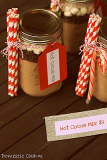 hot cocoa in a jar...cute holiday gift