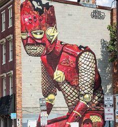 Great artwork by @pixelpancho #flash #dc #dccomics #portrait #mural #wallart #drawing #painting #arteurbano #streetart #graphicdesign #contemporaryart #graffiti #design