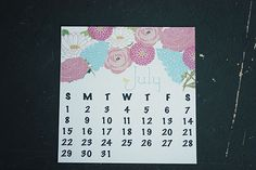 Free Printable Calendar for July