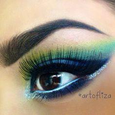 Tropical eyemakeup @artofliza