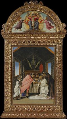 The Last Communion of Saint Jerome, early 1490s, tempera and gold on wood, Italian, Botticelli