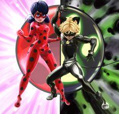 Miraculous Ladybug and Cat Noir by Yoshicat02 on DeviantArt