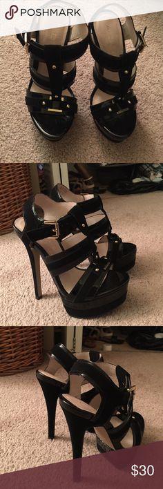 ❤️Aldo Black Strap Heels❤️ New. No box. Aldo. Size 6. 5 1/2 in heel. ALDO Shoes Heels