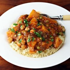 Morocan butternut squash chickpea stew