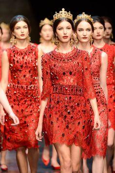 red brigade finale @ Dolce & Gabbana Fall 2013