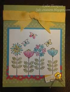 Stampin Up Sweet Summer Stamp Set - Yahoo Image Search Results Friendship Cards, Watercolor Cards, Summer Flowers, Flower Cards, Kids Cards, Stampin Up Cards, Birthday Cards, Happy Birthday, Card Making