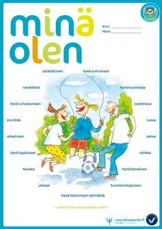 Minä olen -vahvuustehtävä | Neuvokas perhe Teaching Spanish, Teaching English, Primary School, Elementary Schools, Learn Finnish, Finnish Language, Teaching Geography, Classroom Behavior, Early Childhood Education
