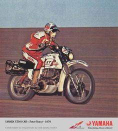 Jean Claude Olivier #Yamaha Sonato 1979, costretto all'abbandono per una caduta. #Paris#Dakar.