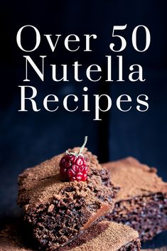 Over 50 Nutella Recipes for Your Sweet Tooth Over 50 Nutella recipes for everything from cookies to cheesecake to brownies and so much more! Make these Nutella dessert recipes today! Top Recipes, Dessert Recipes, Yummy Recipes, Delicious Desserts, Gifts For Diabetics, Nutella Recipes, Gluten Free Baking, Recipe Today, Baking Tips