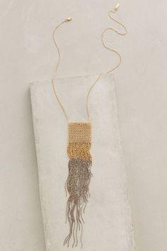 Shimmer Fringe Necklace - anthropologie.com #anthrofave