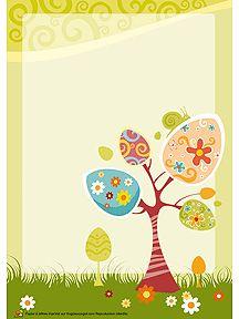 Papier à lettre Pâques à imprimer sur Hugolescargot